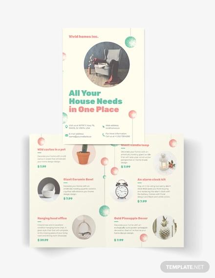 christmas bi fold brochure template