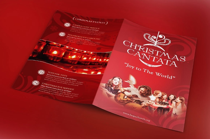 christmas cantana program brochure
