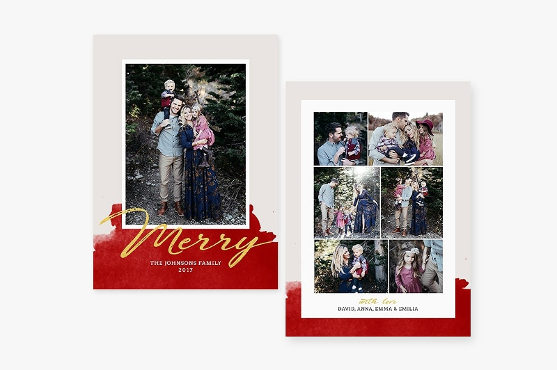 christmas family card design