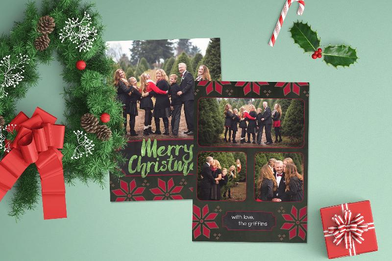 christmas festive pine card