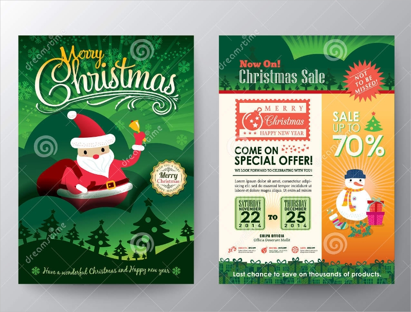 christmas sale vector brochure1