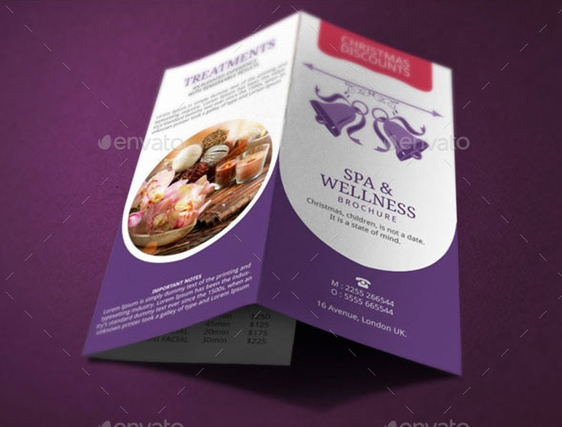 christmas spa brochure template