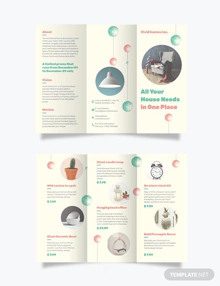 christmas tri fold brochure template