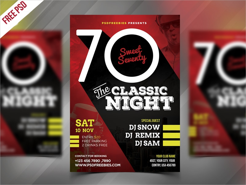 classic event party flyer