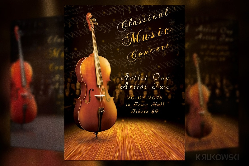 classic music concert flyer