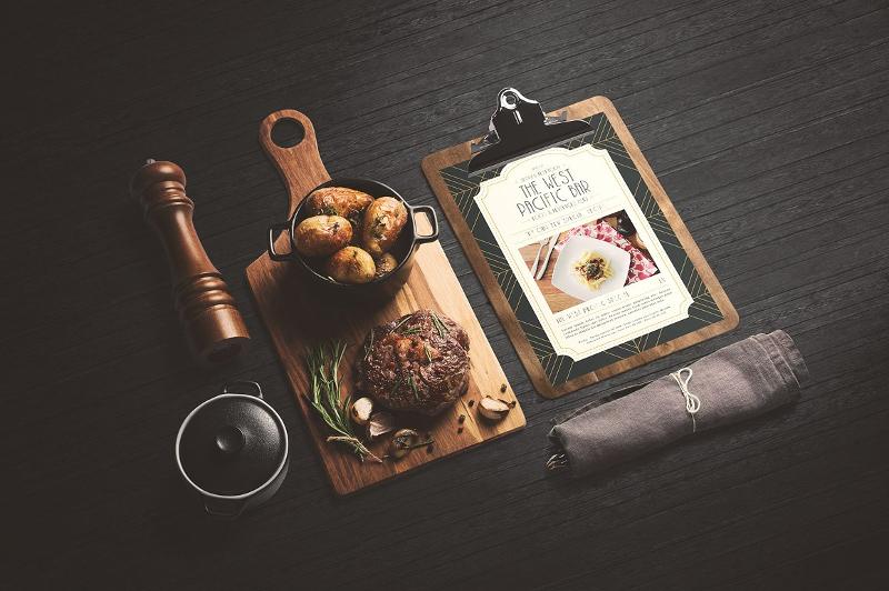 classy art deco menu