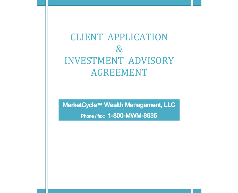 client application investment advisory agreement