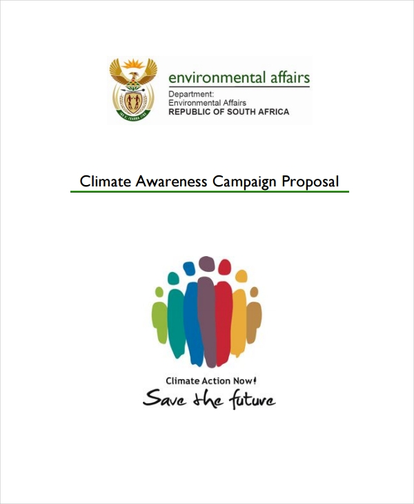 climate awareness campaign proposal