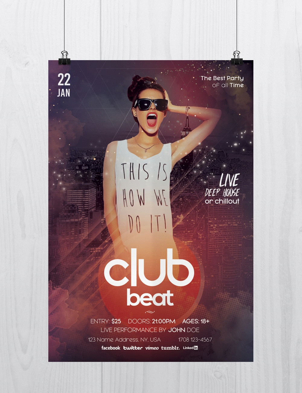 club beat flyer design