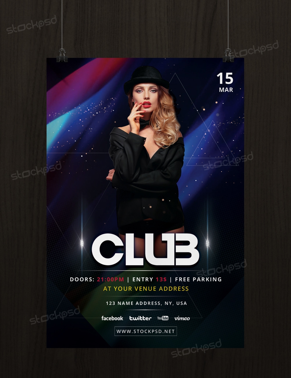club event flyer