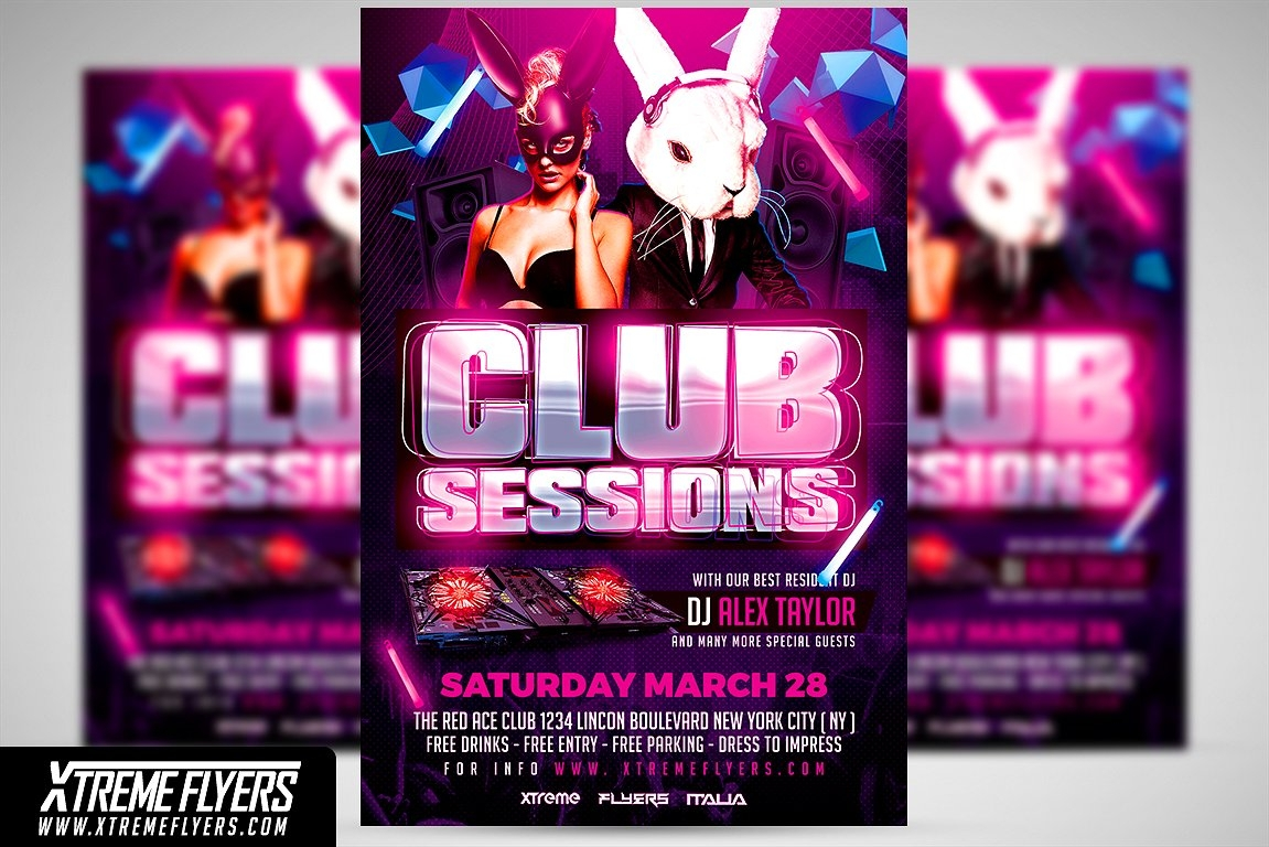 club session flyer design