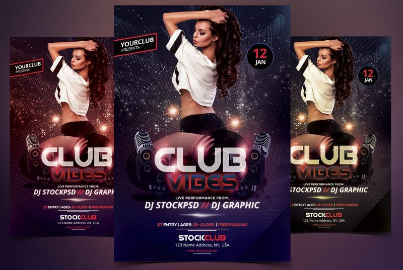 club vibes party flyer