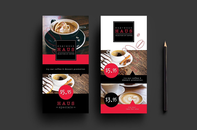 coffe menu in psd