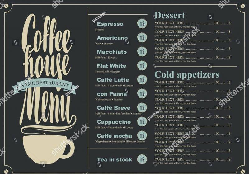 coffee menu sample