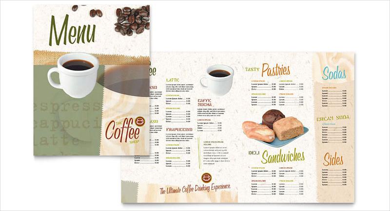 coffeeshop menu template1