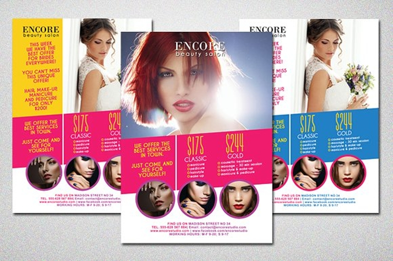 colorful beauty salon flyer