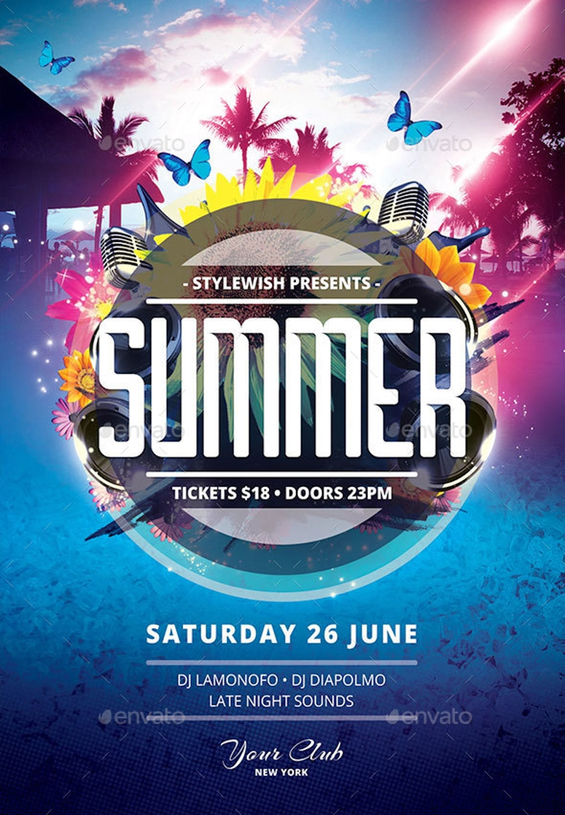 19 summer flyer designs examples psd ai vector eps