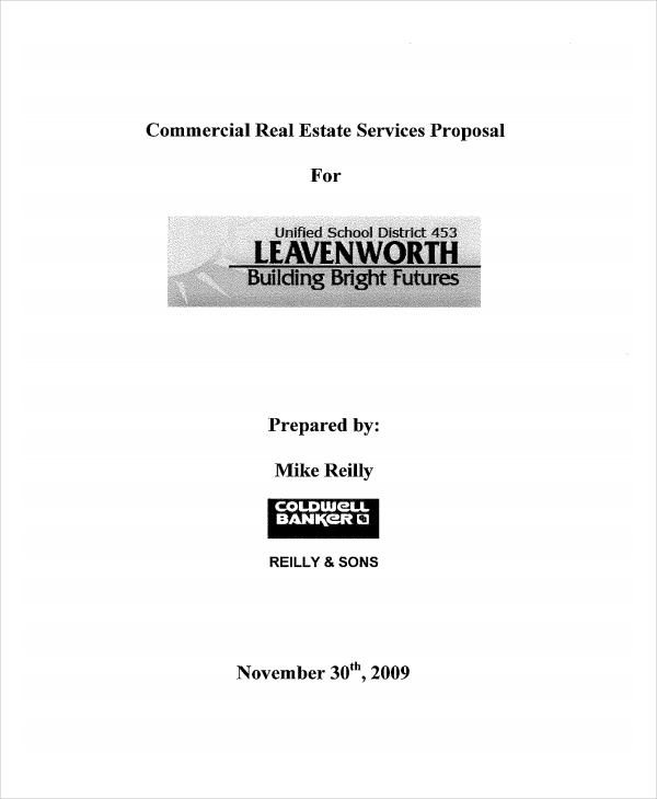 commercial real estate services proposal