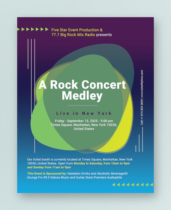 concert flyer example