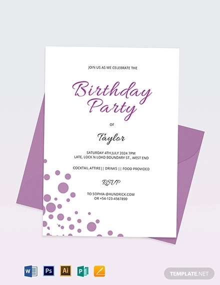 confetti invitation