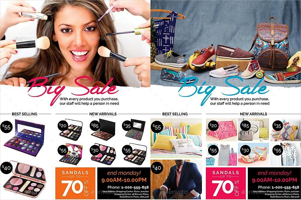 cosmetic product promotion flyer