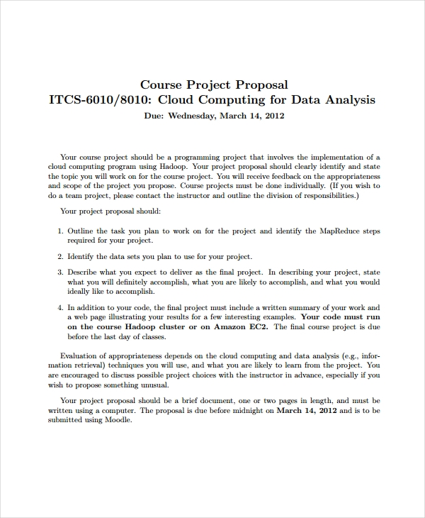 course project proposal