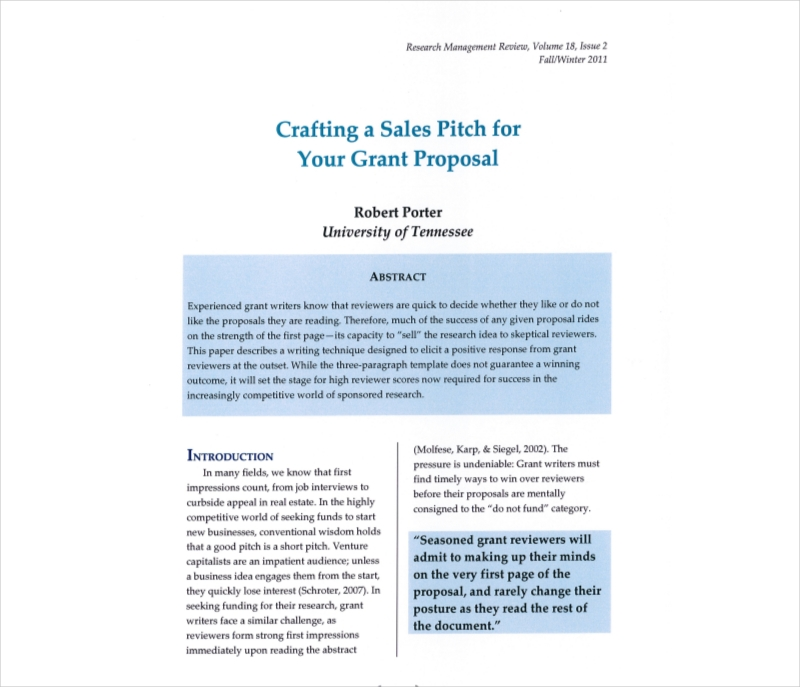 crafting sales proposal