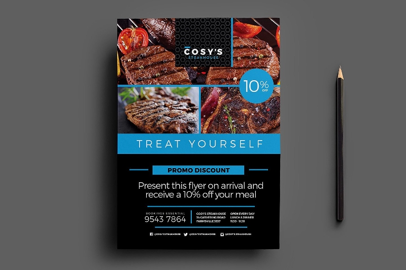 Cusine Restaurant Flyer Sample