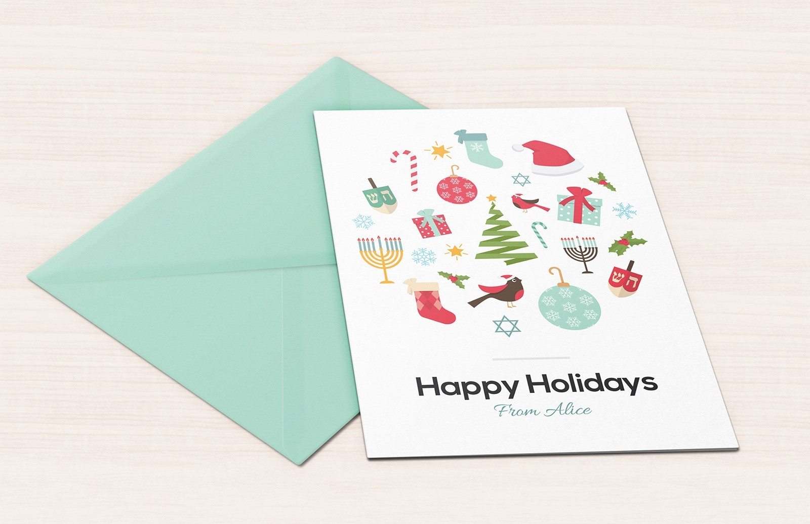 customize holiday greeting card