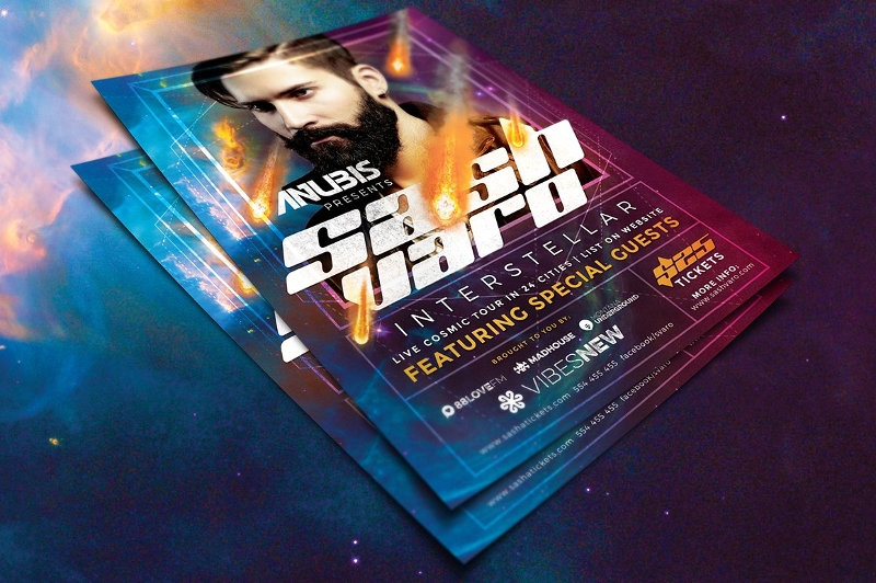 dj event flyer template