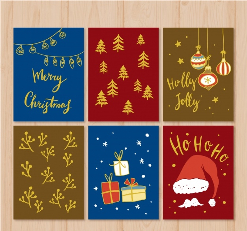 decorative christmas cards