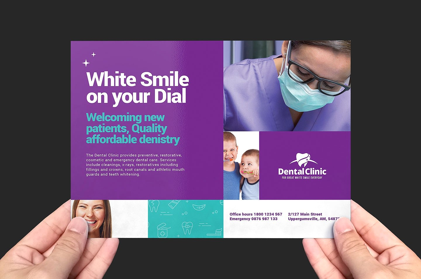 dental clinic psd flyer