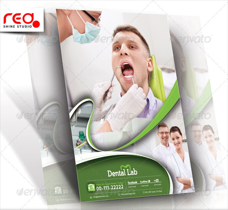 dental flyer and poster template