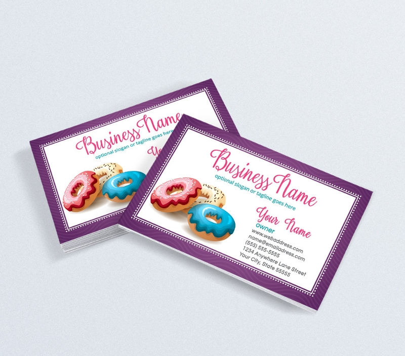 16 bakery business card designs examples psd ai vector eps donut bakery business card reheart Gallery