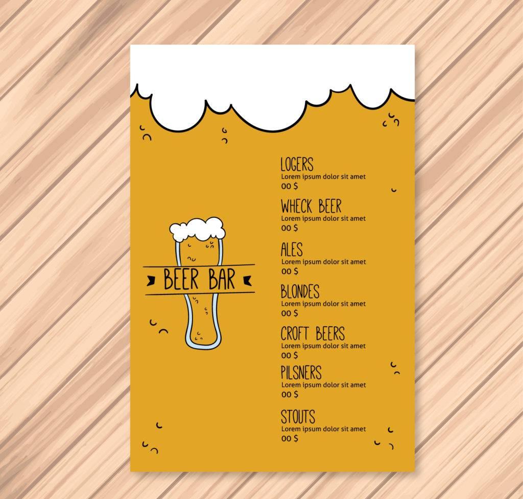 doodle beer menu