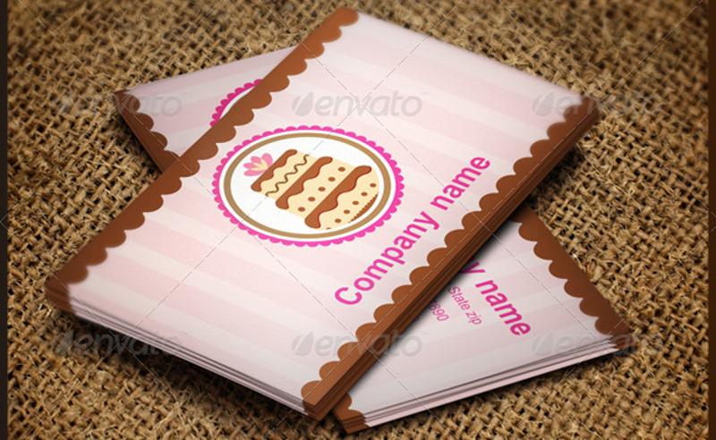 editable bakery business card