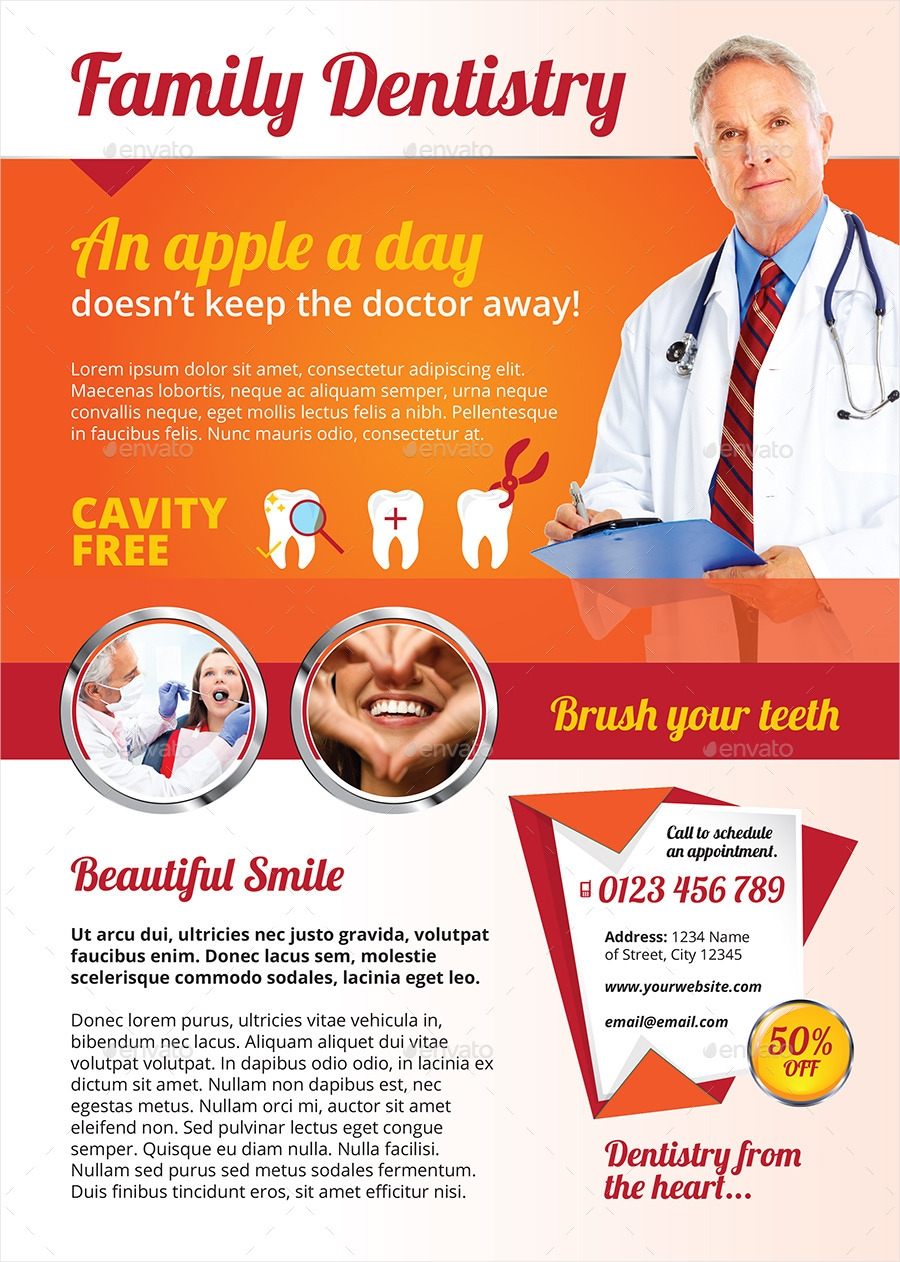 editable dental flyer