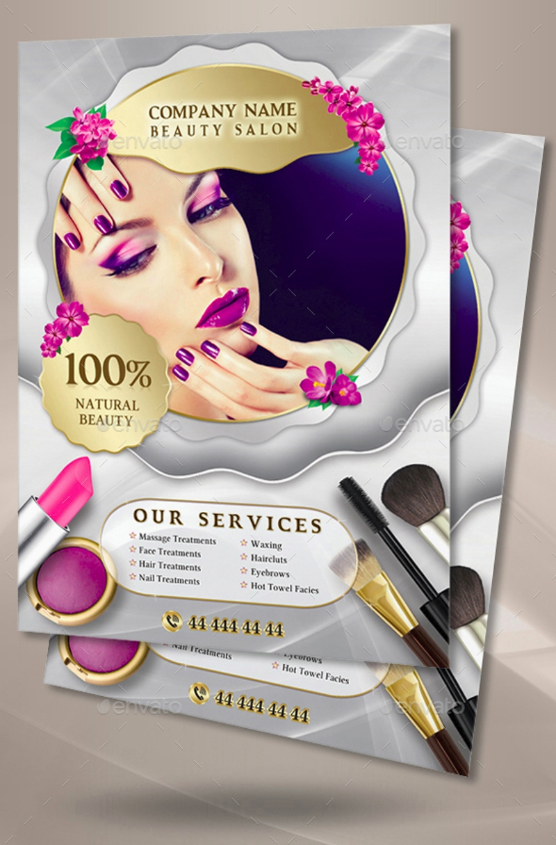 elegant beauty salon flyer