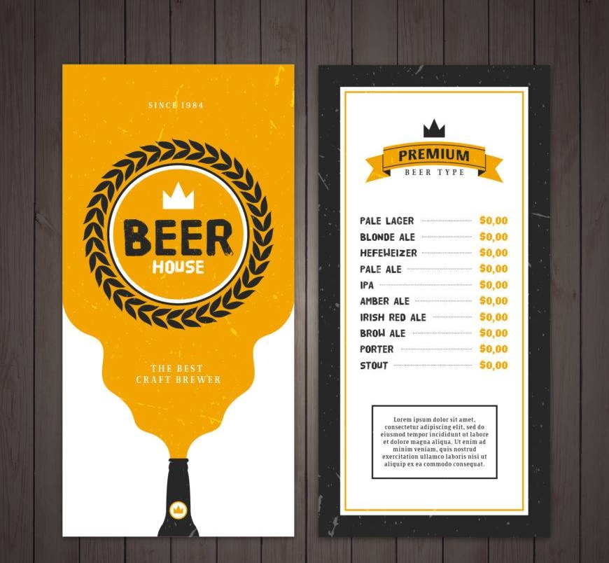 16+ Beer Menu Designs & Examples - PSD, AI, Vector EPS