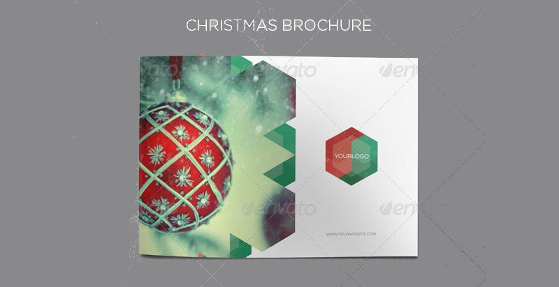 elegant christmas brochure