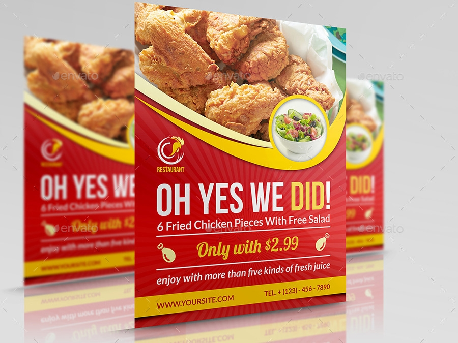 Restaurant Flyer Designs  Examples  Psd Ai Vector Eps