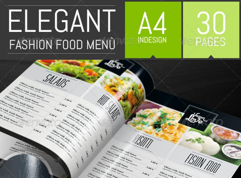 elegant restaurant menu catalog