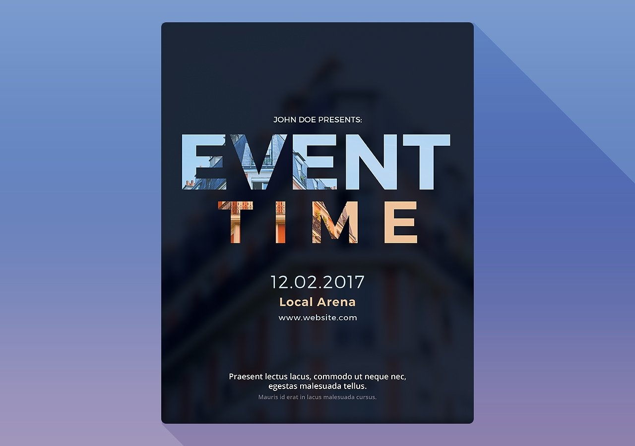 event time photoshop flyer