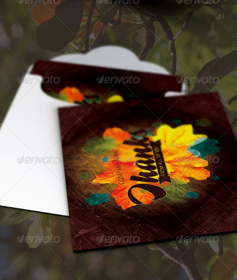 fall thank you card template