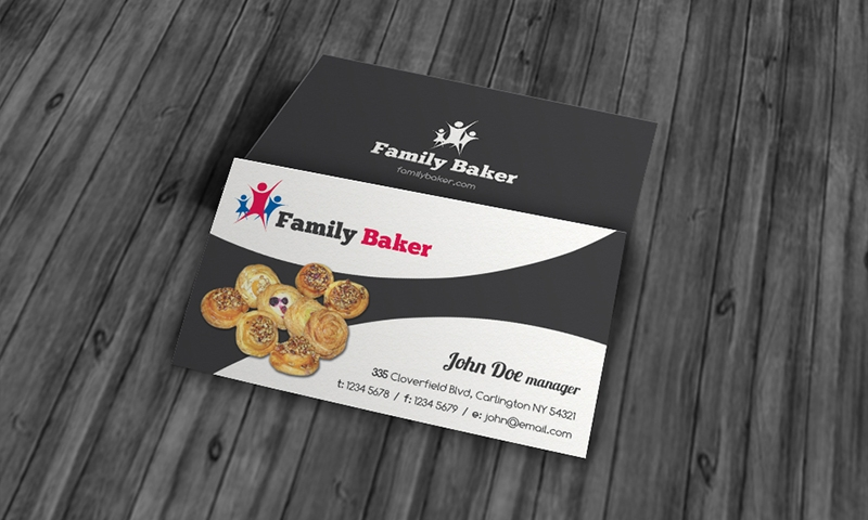family baker business card