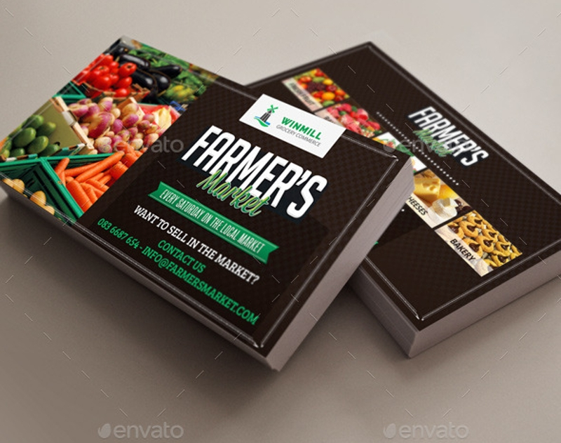 farmers marketing commerce business cards