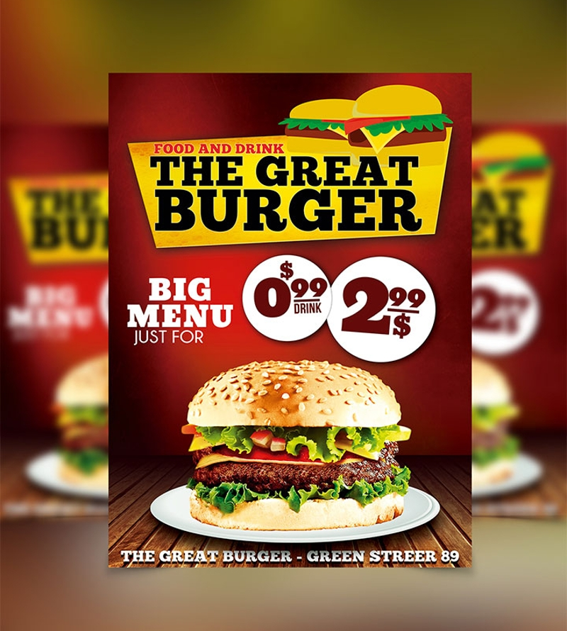 fast food restaurant flyer