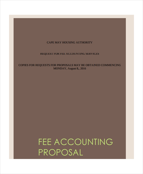 fee accounting services proposal