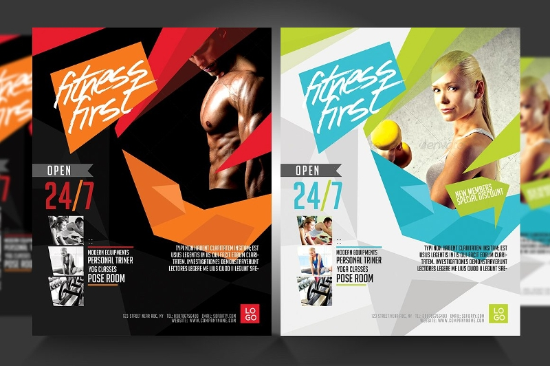 fitness marketing flyer