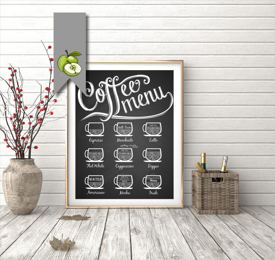 flat chalkboard coffee menu